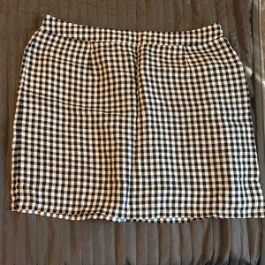 Gingham linen skirt